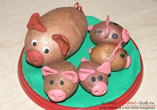 поделки из картофеля для детей