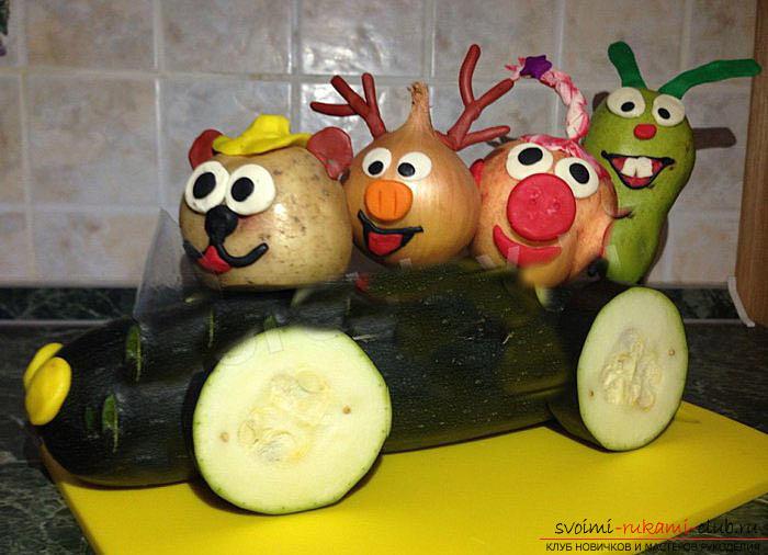 Как сделать овощи своими руками из подручных