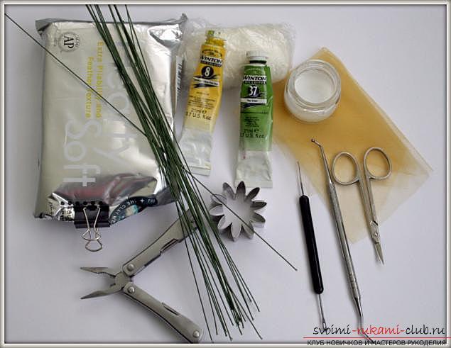 Мастер классы по созданию букетов из полимерной глины с описанием и фото.. Фото №2