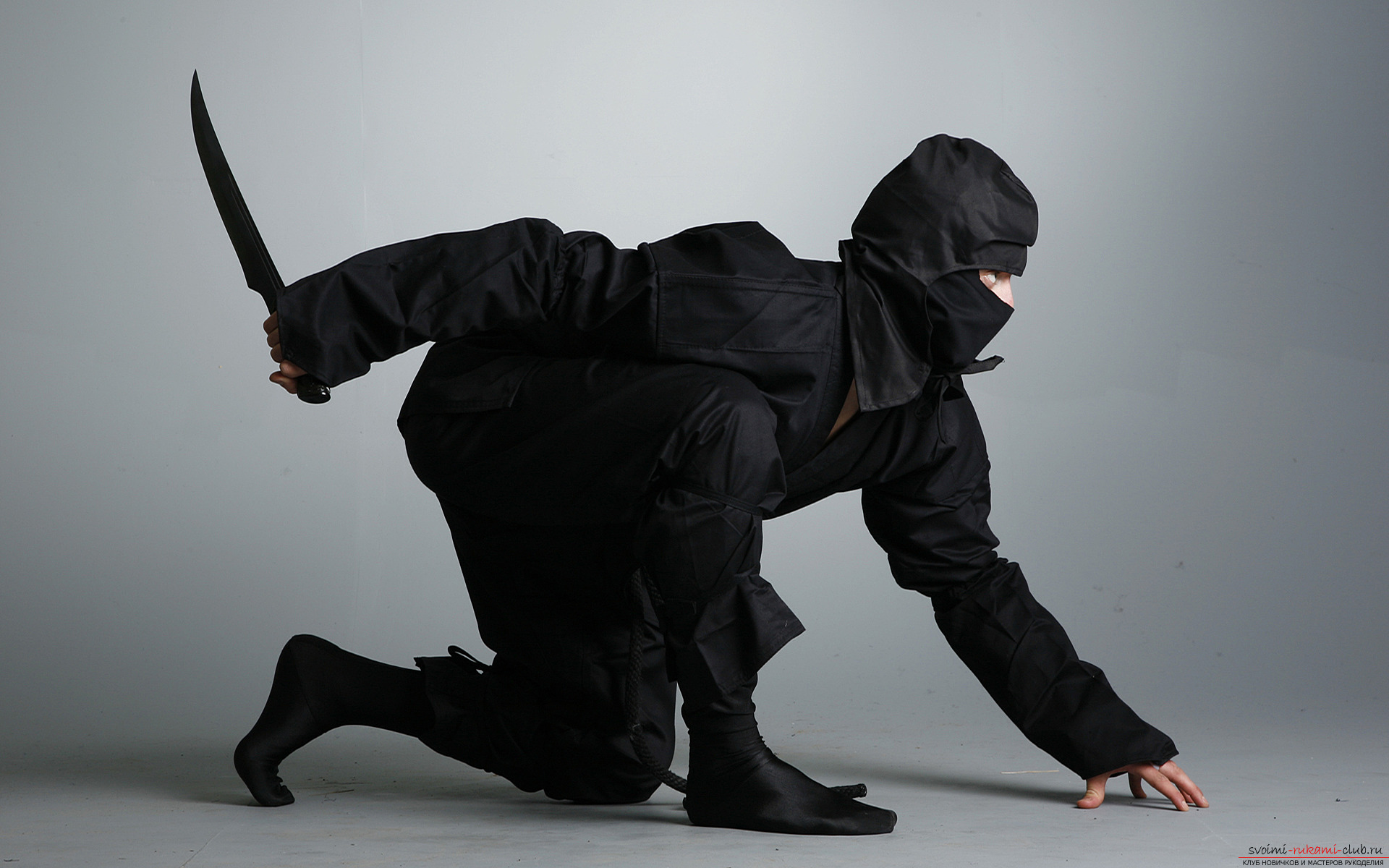 Костюм ниндзя для вечеринки. Кройка и фото костюма своими руками.. Фото №2