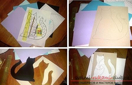 Уроки по созданию поделок в технике айрис фолдинг кленовый листок и кошка, подробные фото и описание работы. Фото №7