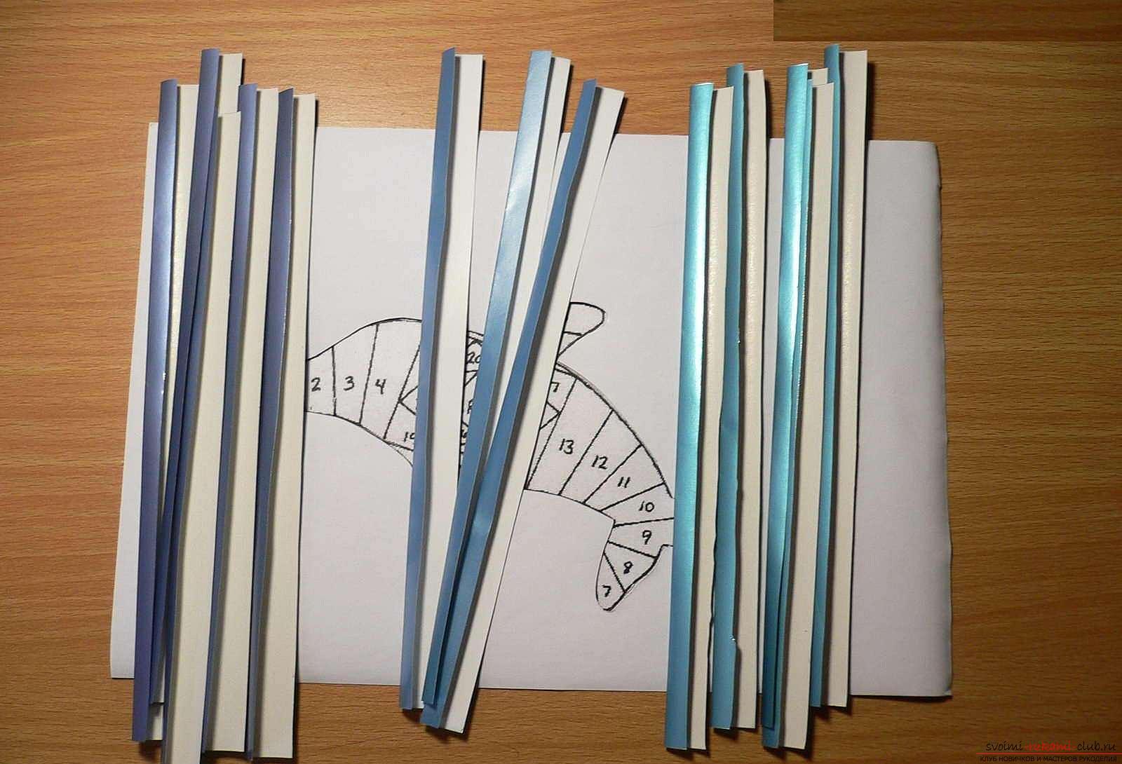 Техника открыток полоски бумаги