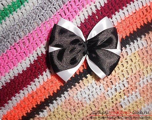 Как сделать галстуки-жабо и галстук-бабочку в технике канзаши, подробные мастер классы с пошаговыми фото и описанием процесса.. Фото №10