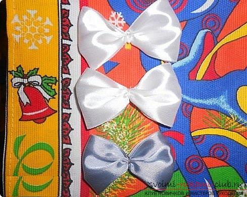 Как сделать галстуки-жабо и галстук-бабочку в технике канзаши, подробные мастер классы с пошаговыми фото и описанием процесса.. Фото №23