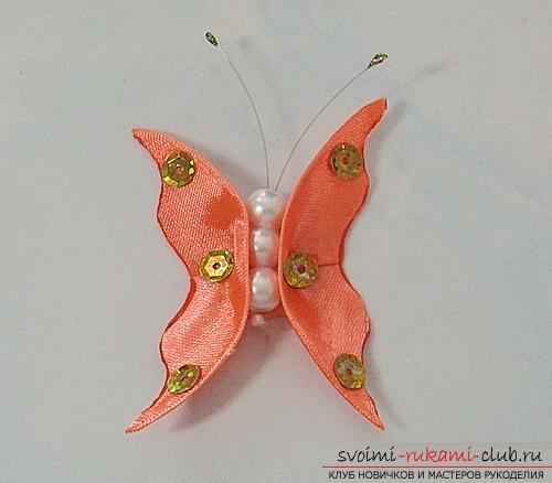 Три бесплатных мастер класса по созданию бабочек из атласных лент в технике канзаши.. Фото №1