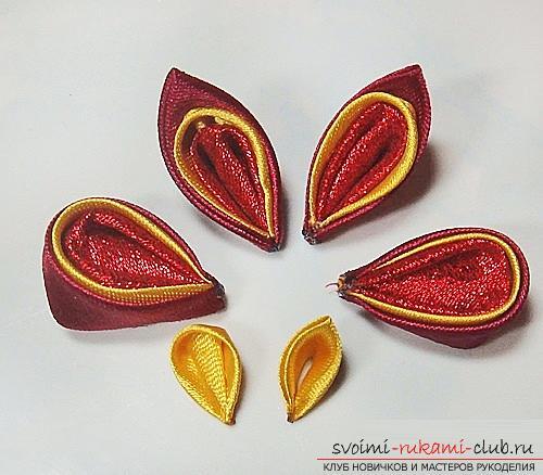 Три бесплатных мастер класса по созданию бабочек из атласных лент в технике канзаши.. Фото №41