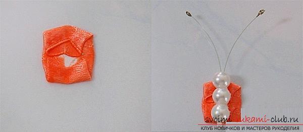 Три бесплатных мастер класса по созданию бабочек из атласных лент в технике канзаши.. Фото №9