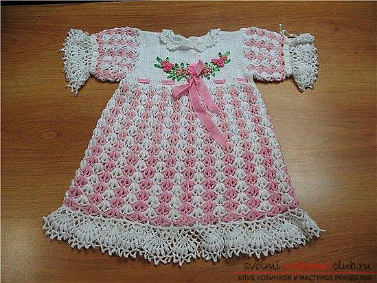 Связать летние платья для девочек