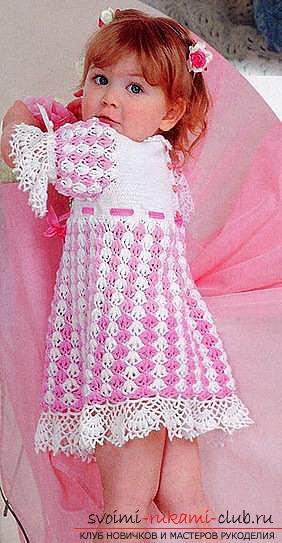 Мастер-класс по вязанию крючком летних платья для девочки от 3 лет своими руками с пошаговым описанием и фото