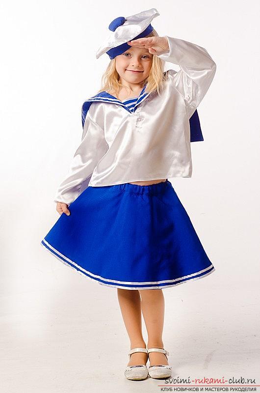 Детский костюм моряка, как сшить костюм моряка для мальчика своими руками, как сшить бескозырку и воротник своими руками.. Фото №21