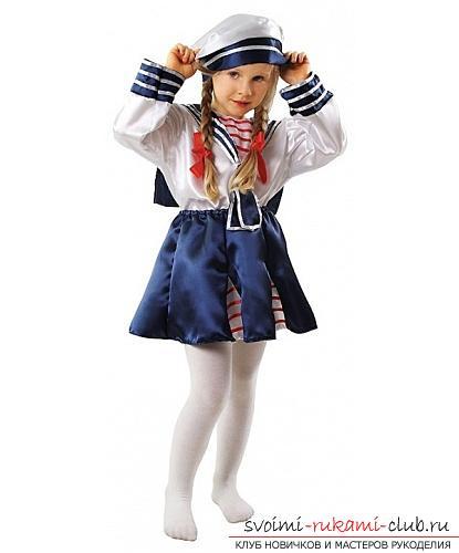 Детский костюм моряка, как сшить костюм моряка для мальчика своими руками, как сшить бескозырку и воротник своими руками.. Фото №22