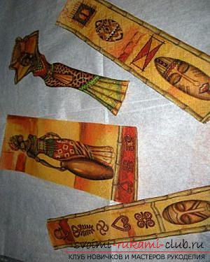 Декупаж бутылки в африканском стиле, поделки из скорлупы, как сделать мозаику из скорлупы своими руками, мозаика из яичной скорлупы на стеклянной бутылке, подробный мастер-класс по декорированию бутылки в африканском стиле.. Фото №11