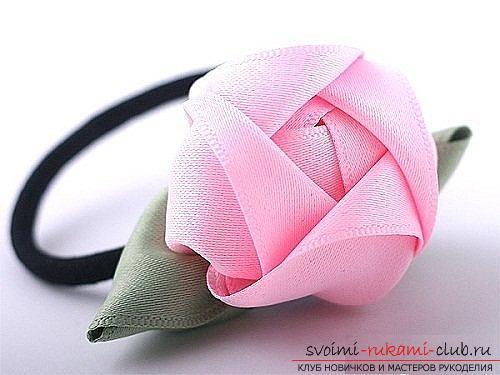 Как сделать розы из ленты своими руками, пошаговые фото и инструкция по созданию цветка, семь вариантов роз из ленты в виде бутонов и распустившихся цветов. Фото №39