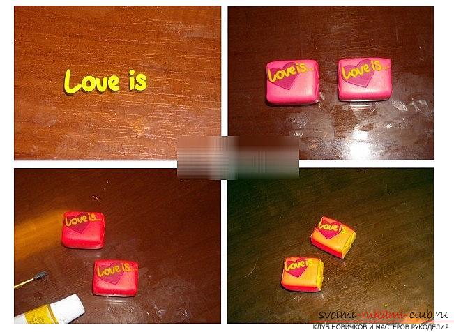 Как сделать жевачку love is из полимерной глины - урок и лепка