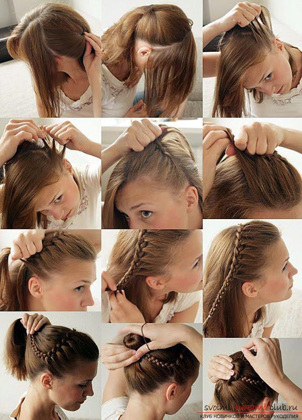 Прически в школу на короткие волосы на каждый день своими руками