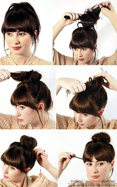 Укладка своими руками средний волос