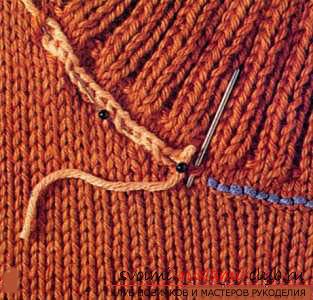 Как связать шиворот спицами до схеме. Фото №13