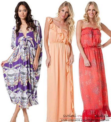 Яркие и нарядные длинные платья своими руками по выкройкам. Фото №6