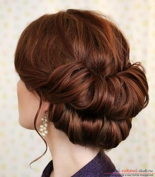 """Советы по созданию вечерней прически на средние волосы, двойной пучок-валик """"Гибсон"""" своими руками.. Фото №5"""