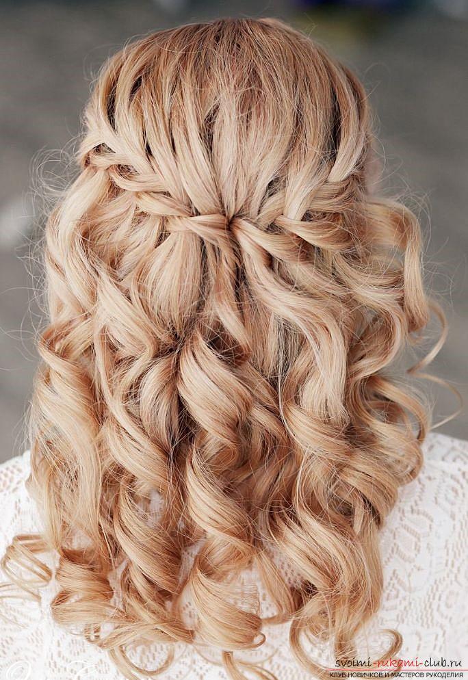 на средние волосы, схема