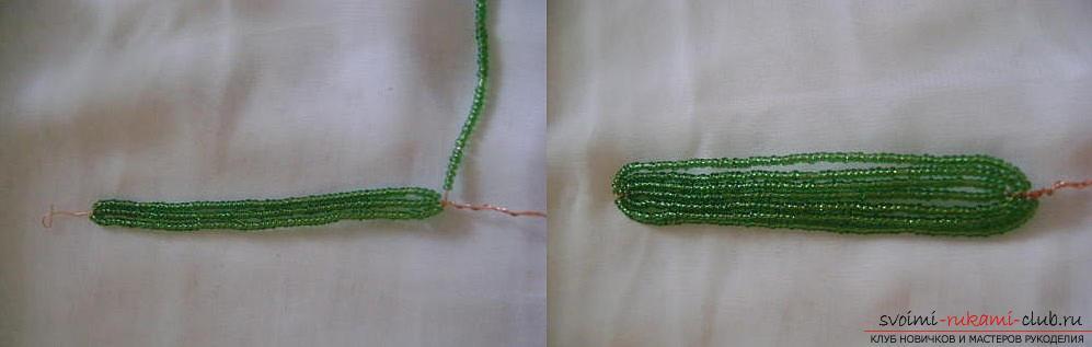 Подробный мастер класс по плетению цветка гиацинта из бисера, пошаговые фото и описание работы. Фото №9