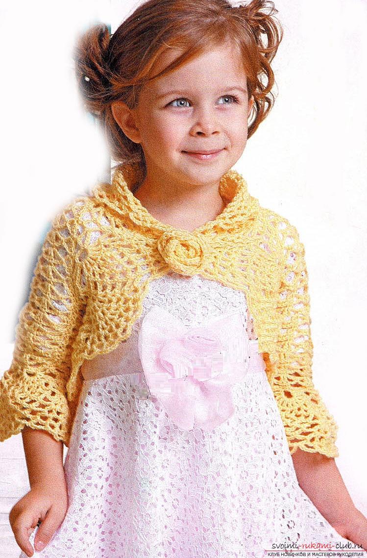 схемы вязания крючком ажурных детских платьев