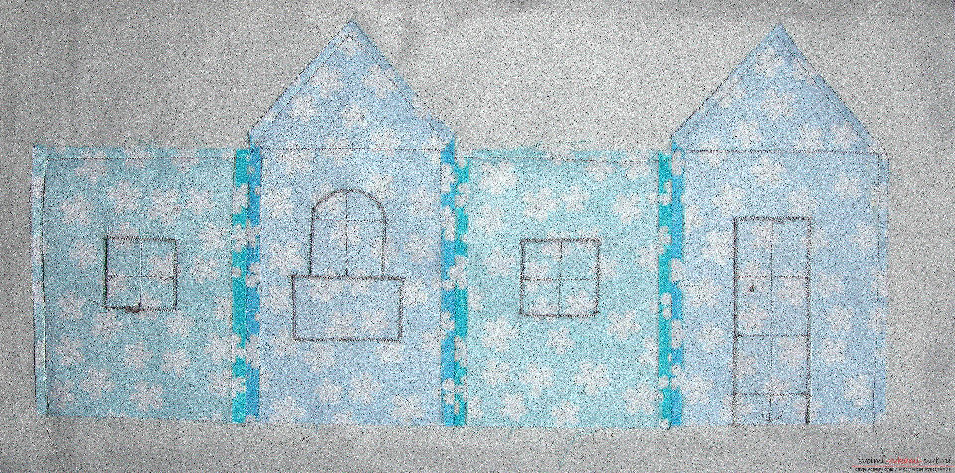 Мастер-класс - делаем текстильный функциональный домик своими руками. Фото №9