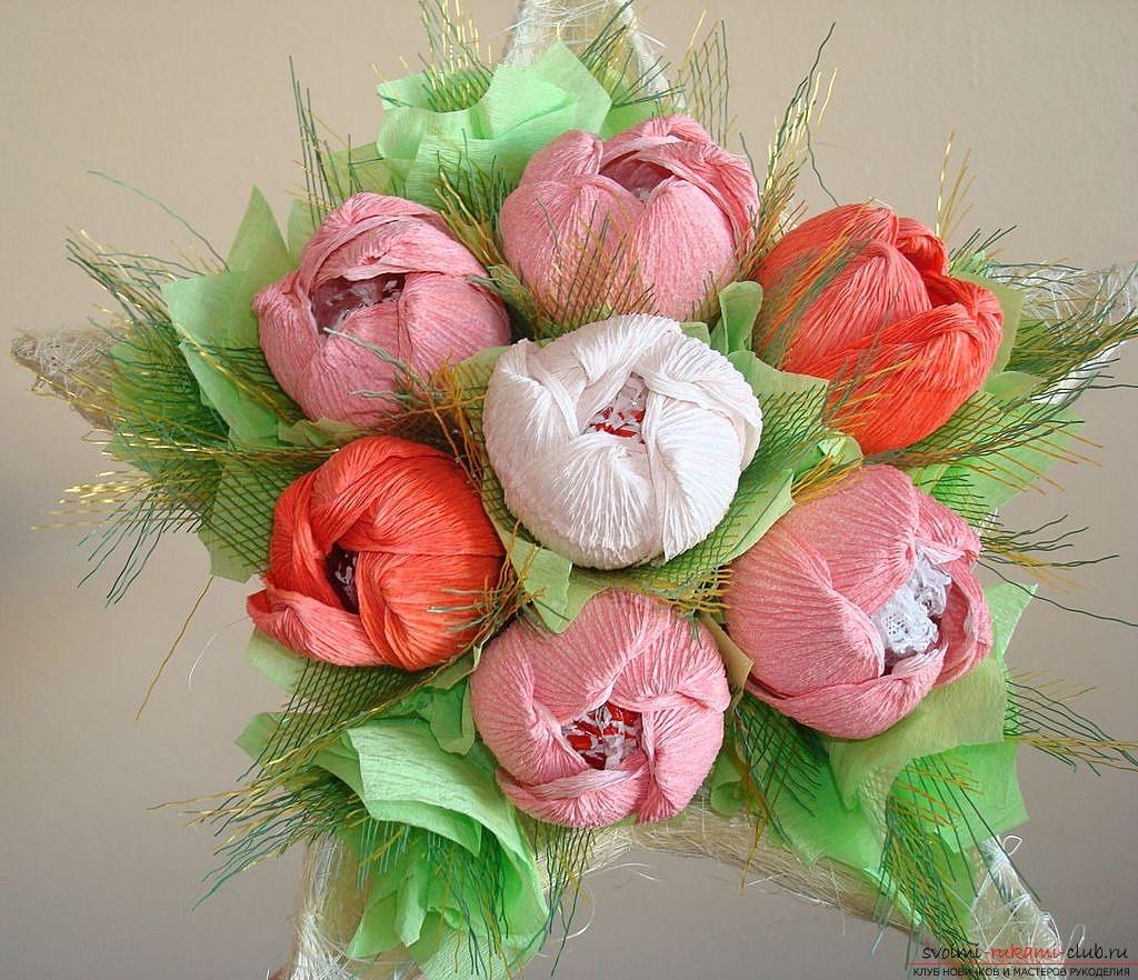 Букеты цветы своими руками из бумаги
