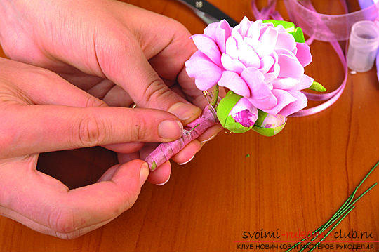 Мастер классы по созданию букетов из полимерной глины с описанием и фото.. Фото №49