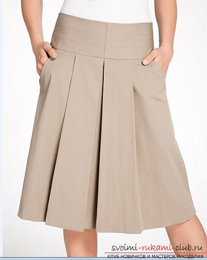красивая юбка в складку своими