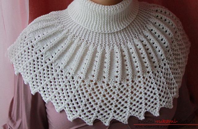 уроки по вязанию шарфа манишки