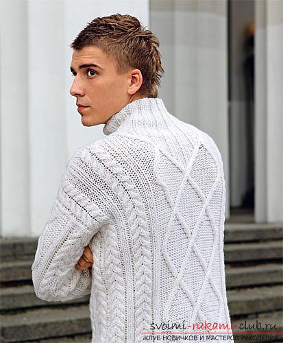 простые схемы вязания мужских