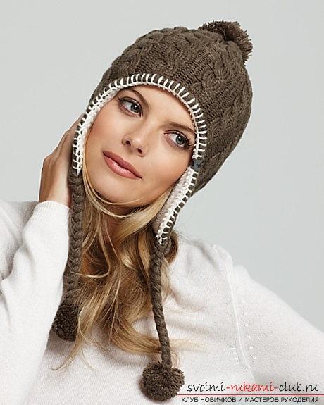 простое вязание шапок спицами
