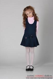 Будь модной! модели школьных сарафанов. Модная одежда