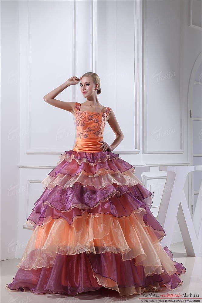 Варианты платьев из мусорных пакетов. Как сшить