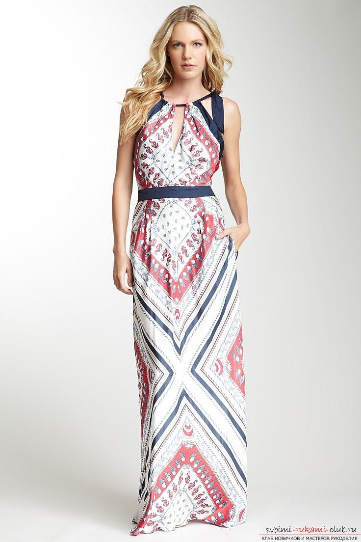 Платье шелковое с выкройкой