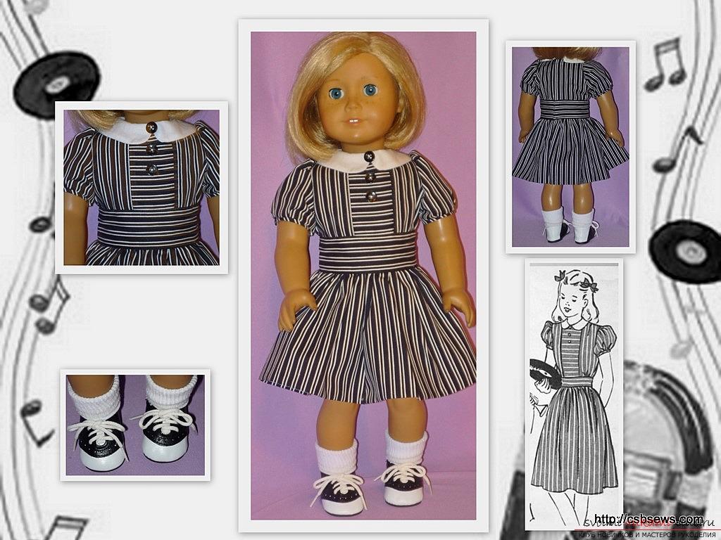 Эскизы платьев для кукол