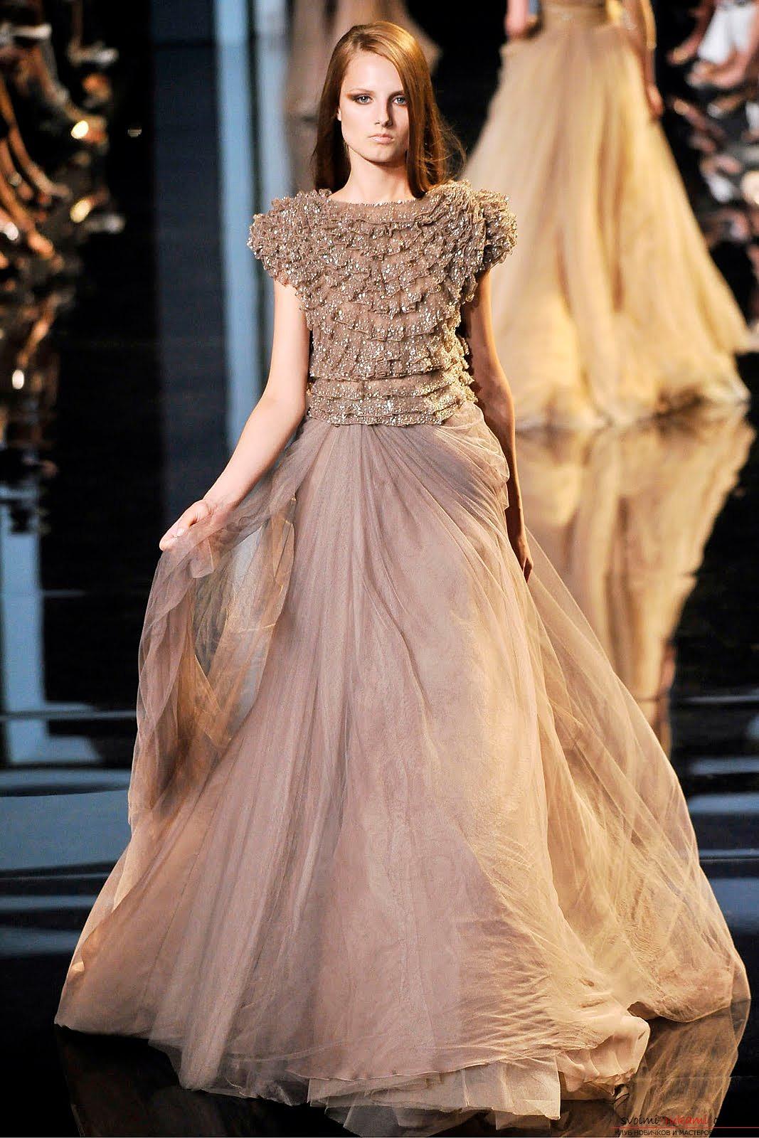 Длинные платья от кутюр
