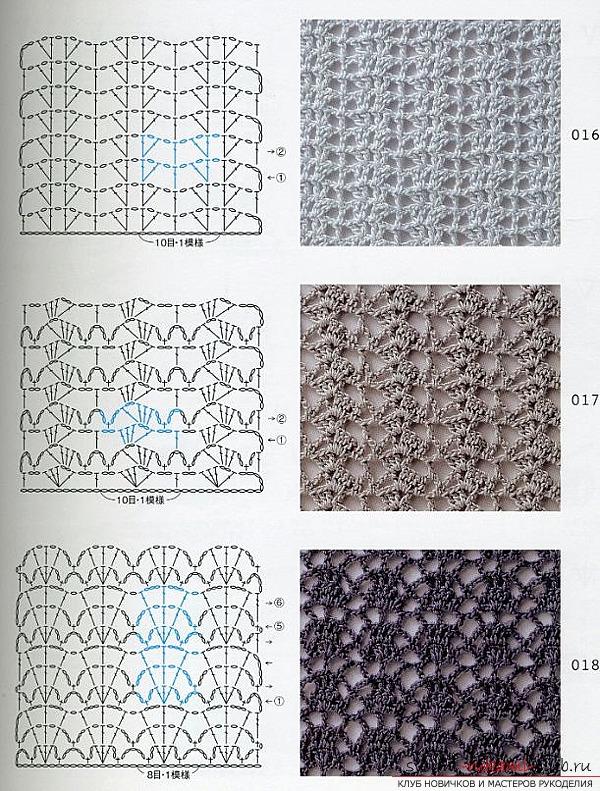 Схема вязания цветка крючком для начинающих с пошагово 19