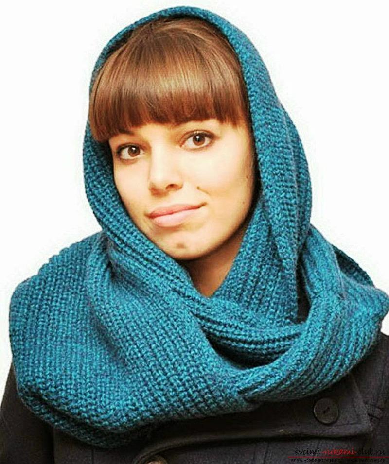 уроки вязания шарф хомут