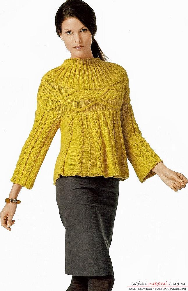 легкие схемы вязания женских