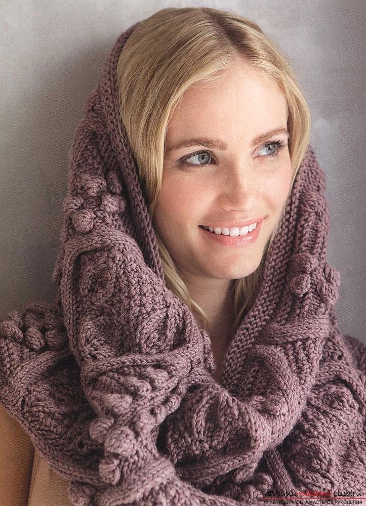 простая схема вязания шарф