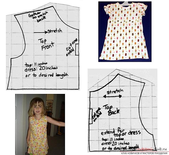 Платье для девочки своими руками для начинающих 22