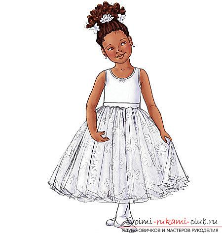 Выкройка платья детского с пышной юбкой