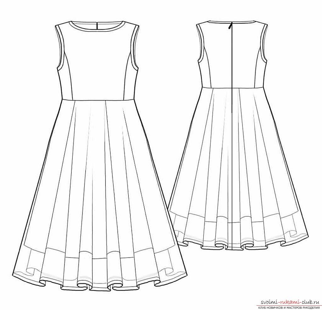 Бесплатные выкройка платья длинного