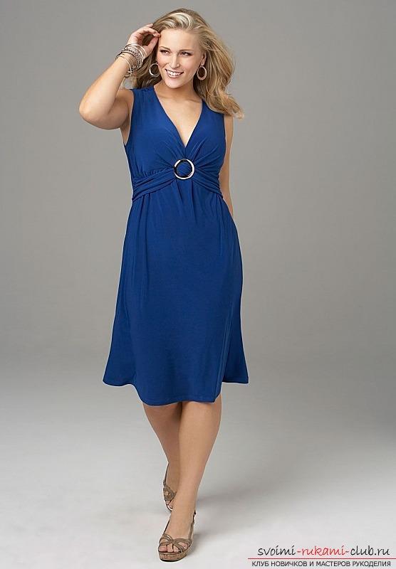 Очень простые платья для полных
