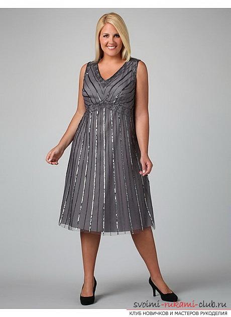 Современные выкройки платьев для полных - новинки для вашего