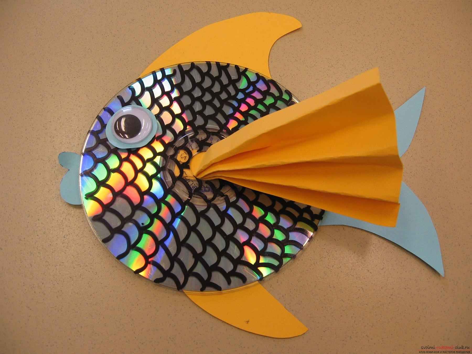 Объемная золотая рыбка из пенопласта своими руками как сделать фото 549