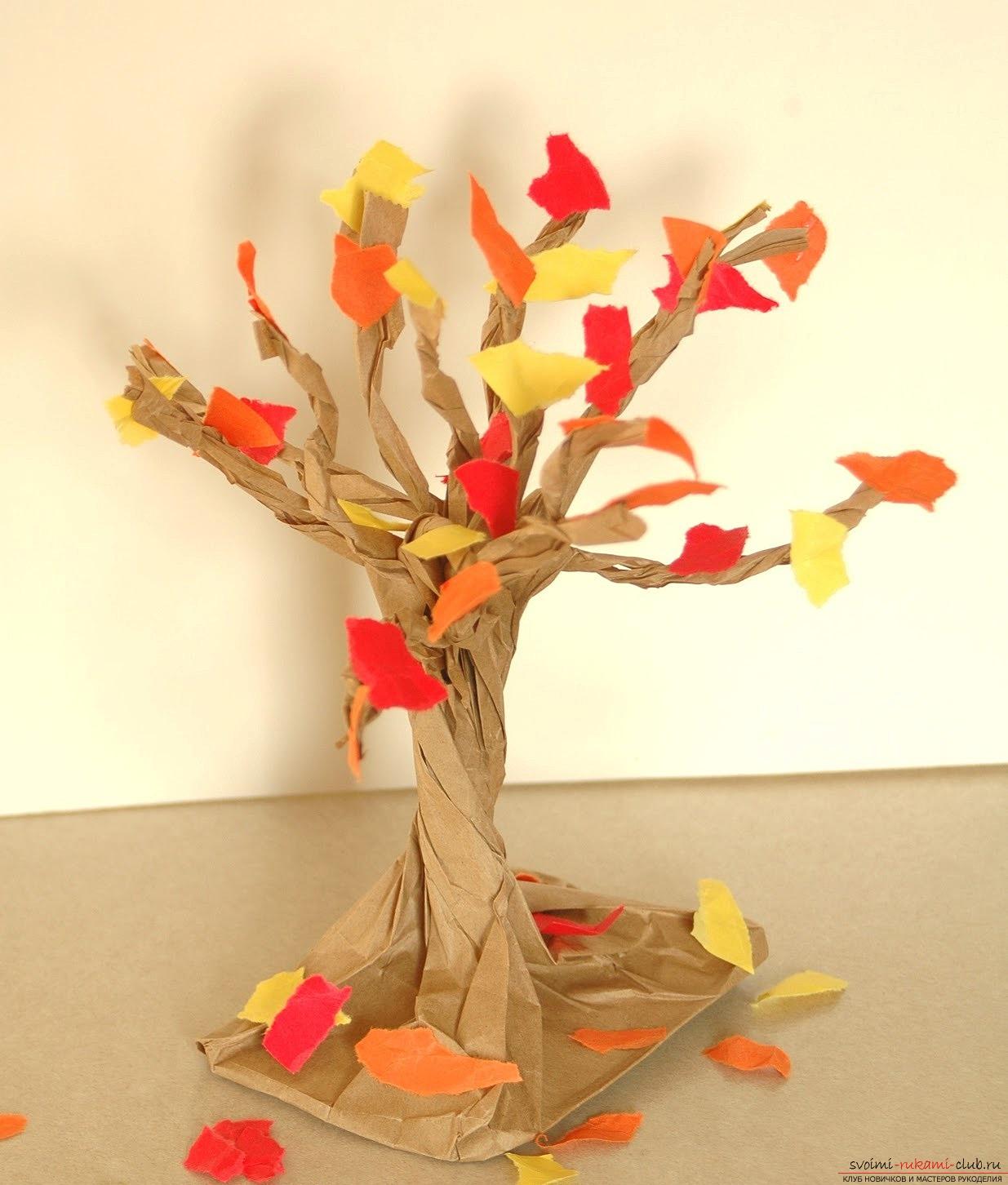 Деревца из бумаг своими руками