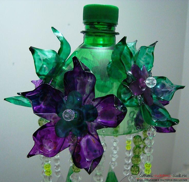 Новогодняя поделка из бутылки пластиковой своими руками